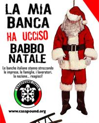 Immagini Contro Il Natale.Babbo Natale Ucciso Dalle Banche La Simbolica Protesta Di