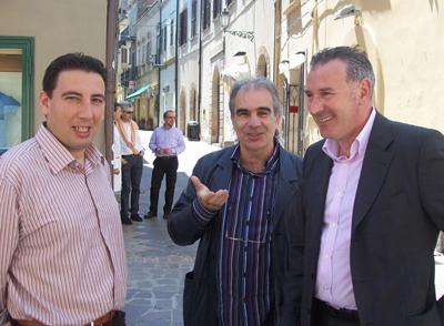 Tre dei candidati in lizza: Sigismondi, D'Adamo e Sputore