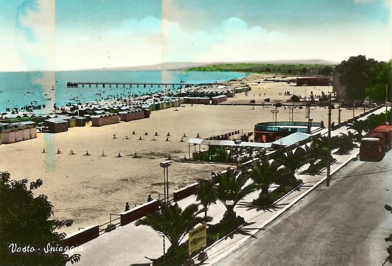 Vasto Marina, cartolina fine anni '50