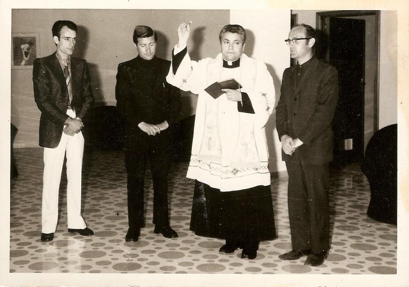 Francescopaolo Laccetti, Fratel Franco (dei Gabriellini), don Decio D'Angelo e don Antonio Bevilacqua