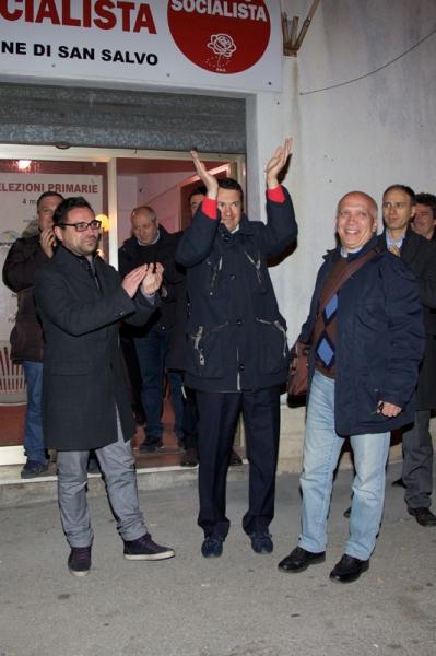 Di Stefano, al centro, con Cilli e Mariotti - Foto E. D'Ercole