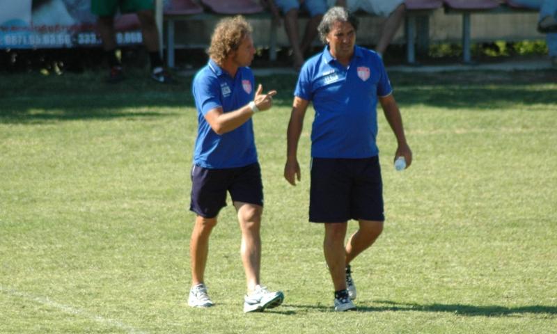 Massimo e Luigi Baiocco,, vice e allenatore Vastese