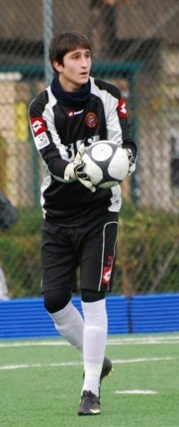Il giovane portiere Antonio Cialdini