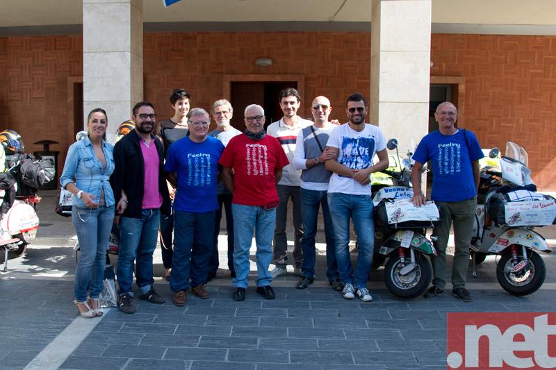 Augusto, Carlo, Domenico e Giuseppe con lo staff di Cittanet