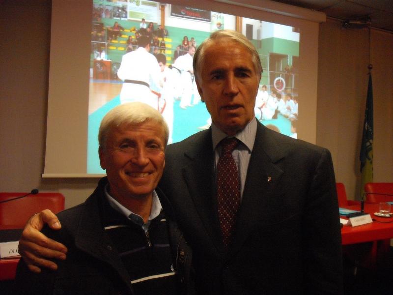 Ottavio Di Tullio con il presidente del Coni Giovanni Malagò