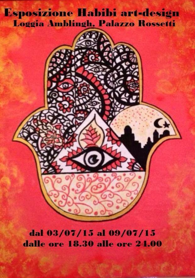 39 habibi art design 39 l 39 esposizione a casa rossetti dal 3 - Esposizione solare casa ...