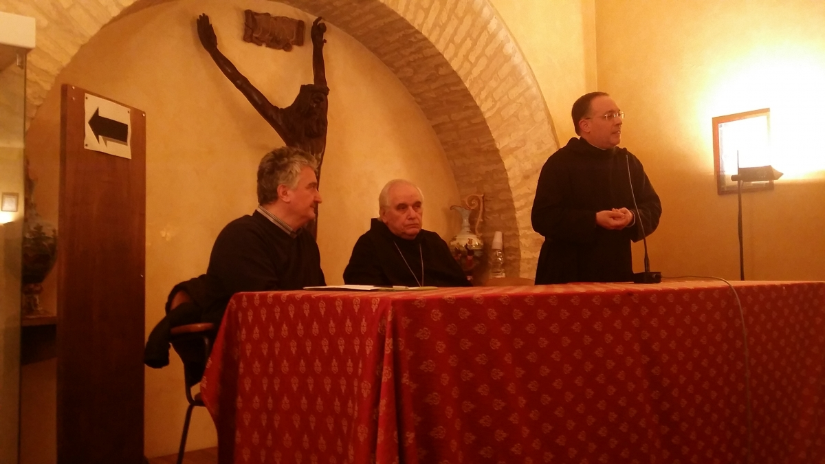 Don Paolo Lemme con Davide Aquilano e l'abate Romano