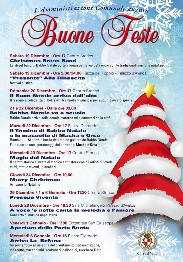 Auguri Di Natale Napoletano.Iniziative Di Natale A Vasto Gli Appuntamenti In Cartellone Si