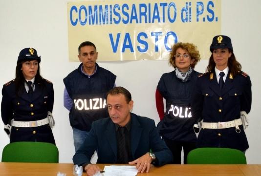 Il dirigente del Commissariato Alessandro Di Blasio
