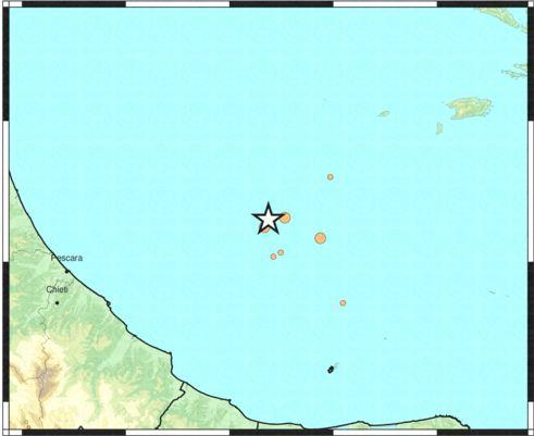 Abruzzo - Sciame sismico in mare, oltre 10 le scosse