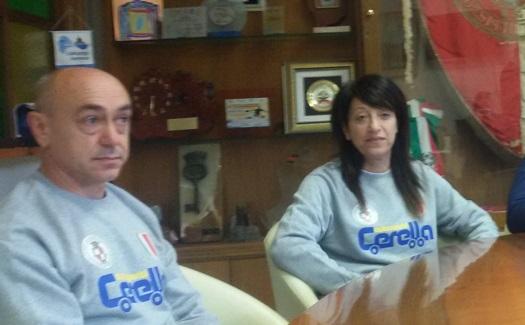 Miriam Di Iorio assieme all'allenatore Giuseppe Di Pasquale