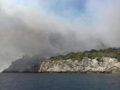 Isole Tremiti: fuoco a San Domino