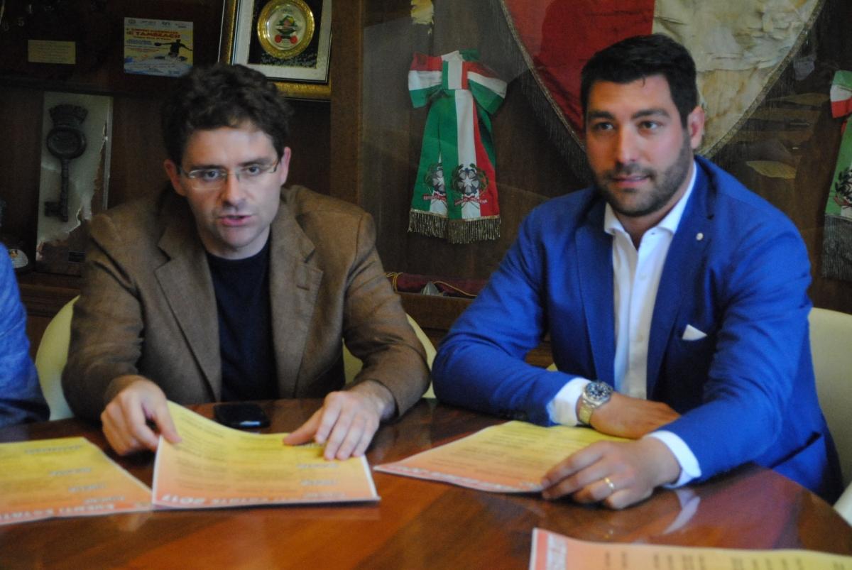 Il sindaco Francesco Menna e l'assessore al Turismo Carlo Della Penna