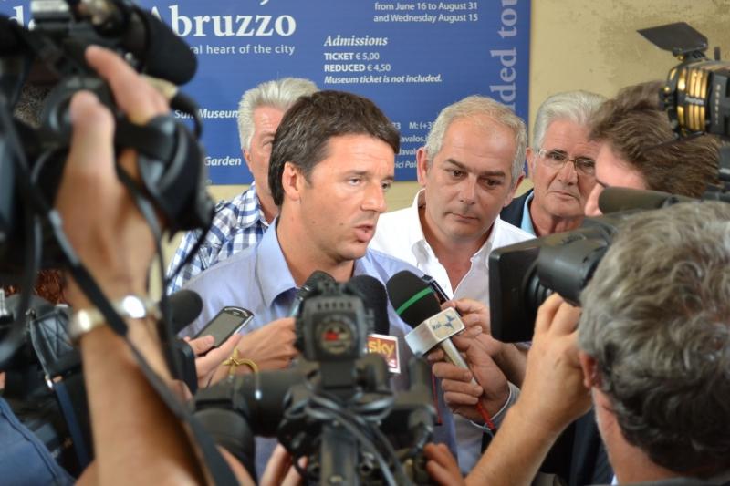 Renzi a Palazzo d'Avalos nel settembre 2012