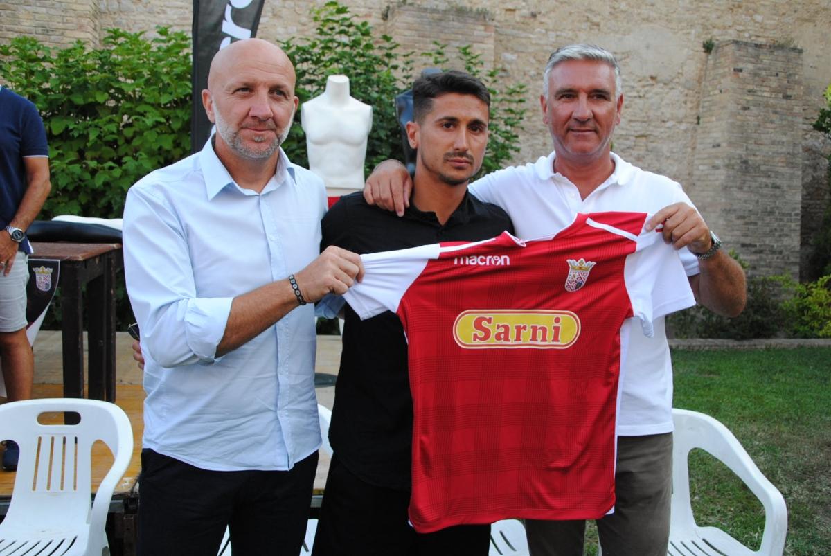 Il tecnico Palladini, capitan Fiore e il presidente Bolami
