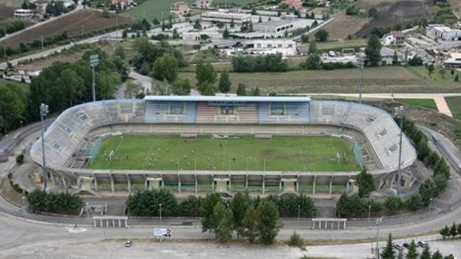 Lo stadio 'Nuovo Romagnoli' di Campobasso