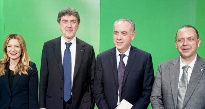I quattro candidati in corsa (foto da rete8.it)