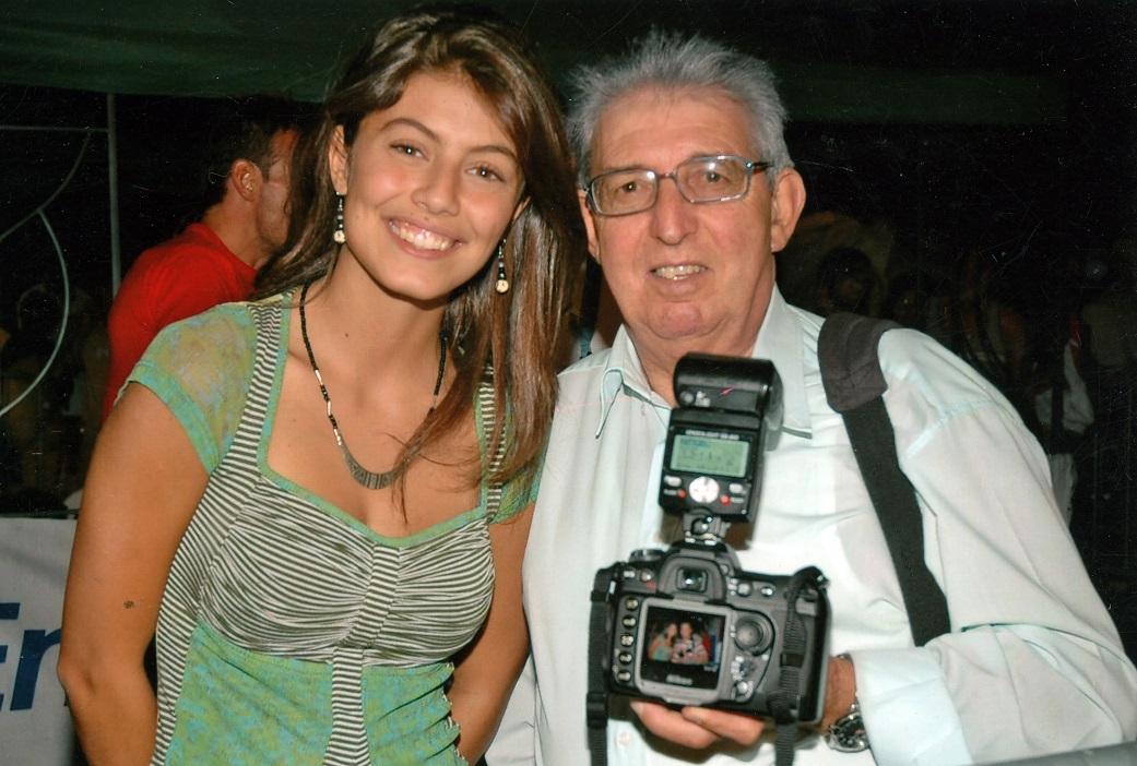 Gino Bracciale assieme all'attrice agnonese Alessandra Mastronardi