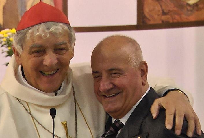 Cesare Giuliani con il cardinale Edoardo Menichelli