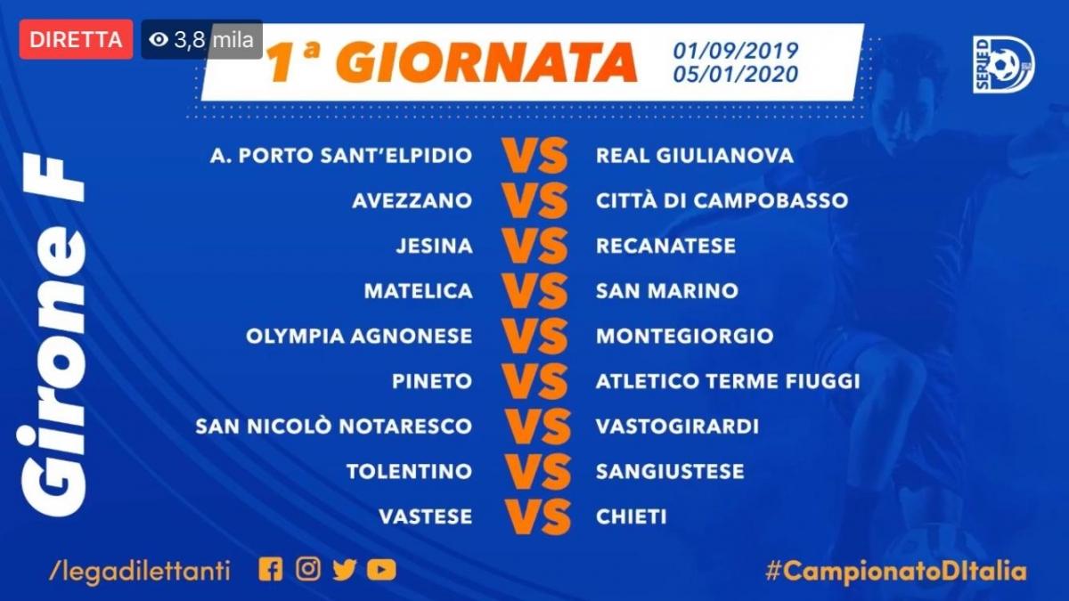 Calendario Frecce Tricolore 2020.Calendario Di Serie D Di Nuovo Il Chieti All Aragona Per La