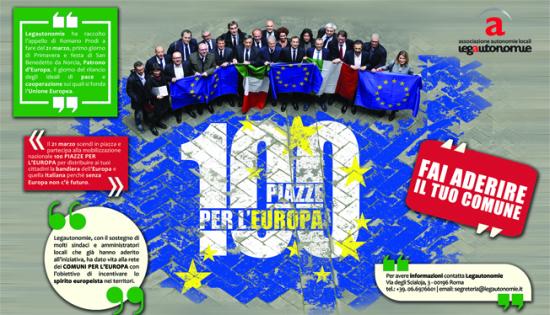 Bandiere Dell Europa E Dell Italia Ai Balconi Per Colorare La Città