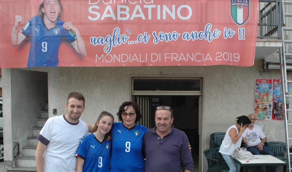 La famiglia di Daniela Sabatino a Castelguidone