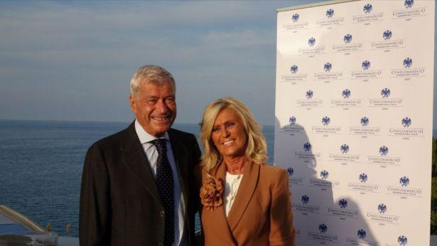 Marisa Tiberio con il presidente nazionale Sangalli
