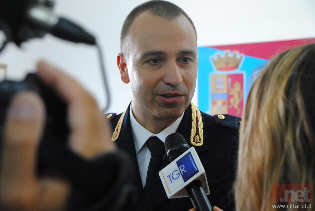 Fabio Capaldo, dirigente del Commissariato di Vasto (Foto archivio)