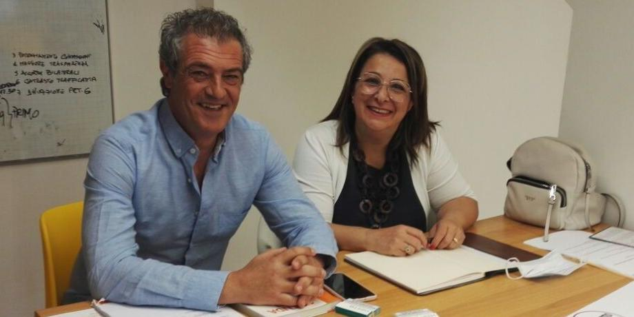 Gianluca Castaldi e Dina Carinci (foto Il Centro)