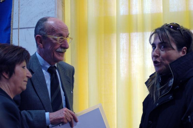 Pina Fiorito con il magistrato Giuseppe Ayala