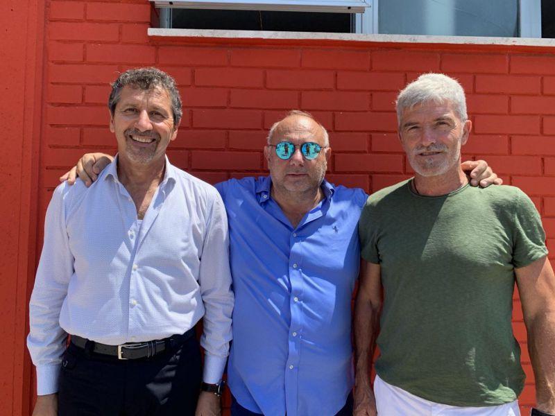 Mister D'Adderio, il team manager Di Filippo e il ds D'Ottavio