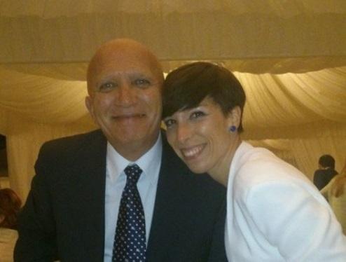 Sara Mariotti assieme al papà Gianni